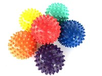 Wholesale ball foot for sale - Group buy Foot Spiky Fitness Massage Ball Muscle Relaxation Exercise Portable Physiotherapy Ball colorful Trigger point Small Health tools LJJQ116