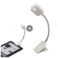 kitap okuyucu ışıkları toptan satış-Kindle Dizüstü için Led Okuma Işık Ebook Kitap Okuyucu Nightlight Masa Masa Lambası PC Telefonu Tablet E-Okuyucu Aydınlatma Fener