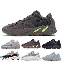 кроссовки сандалии мужчина оптовых-Новые 700 Mauve повседневная обувь Мужская мужская обувь лучшего качества Wave 700 Kanye West Дизайнерские кроссовки модные роскошные мужские женские дизайнерские сандалии обувь
