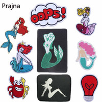 Wholesale sexy hot patch resale online - Prajna Hot Sale Sea Horse Patch Dolphin Crab Sexy Patches Mermaid Patch Anime High Quality Clothing DIY Clothes Applique New D