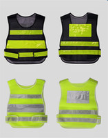 Wholesale reflective construction clothing resale online - Safety Clothing Reflective Vest Hollow grid vest high visibility Warning safety working Construction Traffic vest Reflective Safety Clothing