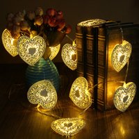Wholesale dry decor for sale - Group buy 10 LED Christmas Love Heart String Light Home Shop Decor