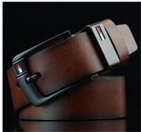 brauner dünner gürtel großhandel-Home Mode Accessoires Gürtel Accessoires Gürtel Produktdetail 2019 Neue Designer Gürtel Dornschließe Ledergürtel für Herren Luxus Herren