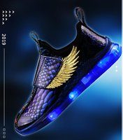 Wholesale arched top for sale - Group buy New LED low top shoes wing automatic lights flashing sports casual shoes children s sneakers stylish breathable boys and girls USB charg