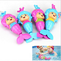 Wholesale toy animal educational for sale - Cute Mermaid Baby Clockwork Dabbling Swimming Pool Water Bath Classic Toy Wind Up Toy Educational Learning Toy MMA1141