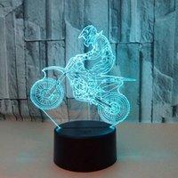 мальчики велосипеды оптовых-7 Цвет DC 5V 3D LED Night Light мотокросс велосипед USB дети мальчик дети красочные атмосфера лампы сенсорного управления Новый год подарок