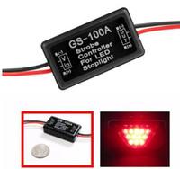 мигающий светодиодный тормоз оптовых-GS-100A флэш-Strobe Flasher Модуль управления для автомобилей LED тормозной Стоп Лампа 12--24V LED Brake Tail Stop Light KKA5950