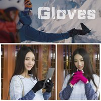 Wholesale touch screen chip resale online - Touch Screen Heated Gloves USB Charging Outdoor Heated Gloves With Independent Heating Chip For Cycling Climbing Winter