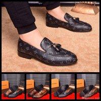 zapatos de vestir de caoba al por mayor-2020SS de lujo de marca zapatos de vestido de primavera y otoño AstroWorld zapatos de lujo del cuero del ante Cadenas de caoba más el tamaño de US11 ÁNGULO