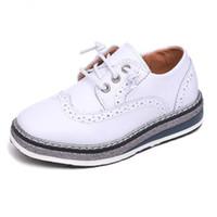 Wholesale uniform shoes for sale - Group buy Boys Leather Shoes for Kids Wedding Show School Dress Flats Shoes England Style Children Performance Uniform Shoes