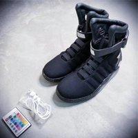 yüksek üst led ayakkabı toptan satış-Aydınlık Erkekler Ayakkabı 2017 Moda Led Ayakkabı Led Future Soldier Ayakkabı için 2019 Top Kalite Hava Mag Yüksek Kalite Marka Sınırlı Üretim Geri