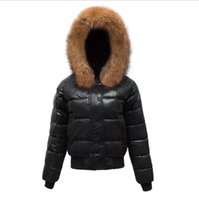abrigo acolchado rojo al por mayor-Escudo de algodón acolchada Delgado Canadá invierno marca la chaqueta del algodón de la chaqueta de las mujeres Mujeres Parkas grueso Mujer Prendas de abrigo rojo ropa Negro