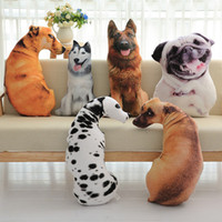 Wholesale cartoon plush pillows for sale - Group buy 3D Puppy Shape Cushion Throw Pillow With PP Cotton Inner Home Decor Cartoon Sofa Toys Sleeping Pillow Plush Gift For Children