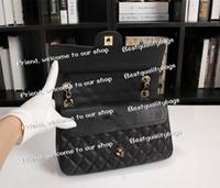 Wholesale coloured handbags for sale - Group buy Hot selling Fashion Genuine Leather Shoulder Bag six colours Lambskin Diamond Lattice Quilted Flap Bag cm Chain Handbag