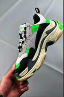 оранжевые формальные туфли оптовых-Kx слип на формальных обувных магазинах Dad Shoes Paris Triple S Оранжевый мятно-зеленый Спортивная повседневная обувь Женская мужская обувь Chaussures на платформе Bh 35-4