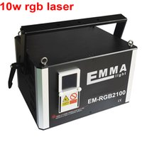 profi-club-laser großhandel-Professionelles ILDA DMX 8000-10000mW Laserlicht 10 Watt RGB Vollfarben Animations Disco DJ Club Lasershow System 40K