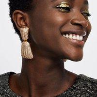 индийская модная мода оптовых-Модные Серьги для Женщин Заявление Свадьба Длинные Серьги Большие Индийские Ювелирные Изделия Золото Серебро Цвет Металл Earing Gift
