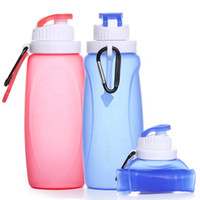Wholesale water container for sale - Group buy 350ml ml Foldable And Collapsible Plastic Container Water Bottle Outdoor Silicone Bottle For Camping Hiking