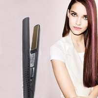 Wholesale straightening iron curls for sale - V Gold hair Straightener Iron Brush Hair Straightening Curling Irons Classic Professional styler Fast Styling tool for Valentine s Day gift