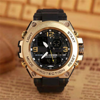 Wholesale men's sport watches online - Popular mens Summer G Sports GA100 Watches LED Stainless steel case Climbing Digital S Shock Men Watch All Pointer Work