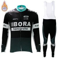 Wholesale cycling thermal sets for sale - Group buy 2019 Latest model BORA Team winter thermal Fleece Long Sleeve Cycling Jersey Set Men Bicycle bib pants suit MTB Bike Sports Clothing