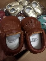 Free DHL INS Rubber Baby Girls Boys First Walkers Handmade Toddler Hard Sole Leather for 0-2T
