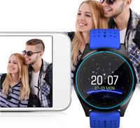 ingrosso braccialetto verde della macchina fotografica-V9S Smart Watch Bluetooth Smart Bracciale con SIM Card Camera Fitness Tracker per cellulari Android IOS in confezione