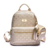 sac à dos de style coréen achat en gros de-Nouvelle version coréenne du sac à dos en deux pièces de luxe en forme de diamant de luxe sac à bandoulière marque féminine style rétro pu dames sac à dos