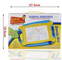 placa de brinquedo magnética venda por atacado-Placa de desenho magnética Brinquedo e Esboço Almofada Erasable Escrita Crianças Criança Menino Menina Pintura Presente de Aprendizagem Home Decor GGA1170