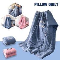 almofadas do quarto venda por atacado-Quilt Escritório Cotton Cushion Pillow Home Textile Hotel Sofá-Cama Cobertor Bedroom