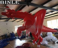 Wholesale inflatable dragons for sale – halloween Hot sale giant inflatable fly dragon hanging dragon model dragon balloon with air blower for event decoration