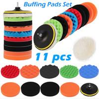 11Pcs Set 3 4 5 6 7 inch Polishing Pad Waxing Buffing Polishing Sponge Pads Drill Adapter Kit For Auto Car Polisher Maintenance