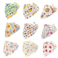 Baby Print Saliva Towel Baby Infant Boy Girl Designer Clothes Cotton Triangle Newborn Turban Bib Scarf Double Snap