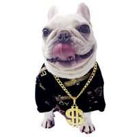 Wholesale dog collar jewelry for sale - Group buy Dollar Logo Gild Metal Decoration Spoof Pet Accessories Cat And Dog s Necklace Gild Necklace French Bull Dog Jewelry Necklace GIld Dog Chain