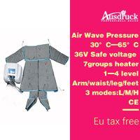 equipo de desintoxicación del cuerpo al por mayor-110V-220V Presión de onda de aire PRESSOTERAPIA MÁS ENTRADA Envoltura corporal Máquina para desatarse Desinfección del drenaje linfático Belleza Equipo de masaje ES600