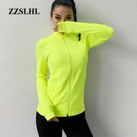 Wholesale Women s Sports Slim Seamless Running Jacket Gym Long sleeves Fitness Workout Quick Dry Elastic Zippered Outdoor Sports Jacket