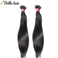 Wholesale bella hair extensions resale online - Bella Hair PC Brazilian Malaysian Peruvian Indian Hair Bundles Human Virgin Hair Extensions quot quot Silky Straight Weave Natural Color