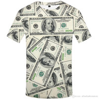 mens hip hop t-shirts kleidung großhandel-Dollar T-Shirt Männer Geld T-Shirts Gothic 3d T-Shirt Lustige T-Shirts Hip Hop T-Shirt Coole Herrenbekleidung 2018 New Summer Top