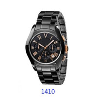 Wholesale red ceramic box resale online - BEST PRICE CERAMIC watch Lovers AR1400 AR1401 AR1403 AR1404 AR1410 AR1411 AR1416 AR1417 CHRONOGRAPH WATCH Original box Certificate