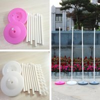 decorações de arco venda por atacado-2 Conjuntos 150 cm Balão Coluna Base / vara / plástico Polos Balloon Arch Evento Do Partido Do Casamento Suprimentos Decorações Do Jardim