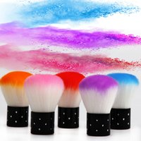 diy uv led al por mayor-Suave Nail Art Dust Brush Acrílico UV LED Gel Nail Cleaning Dust Manicura Herramienta de bricolaje