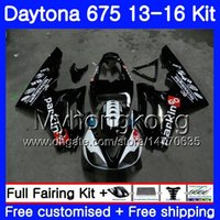 triunfo carenados completos al por mayor-Bodys For Triumph Daytona 675 2013 2014 20 15 2016 Carrocería 328HM.39 Daytona675 Daytona-675 Daytona 675 full black hot 13 14 15 16 Carenado