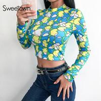 2c985b9ae Korean Fashion Crop Tops Online Shopping - Sweetown Korean Fashion Sexy  Slim Crop Top Tee Shirt