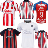 Wholesale long sleeve football jerseys for sale - Group buy Size S XL MEXICO Club Chivas de Guadalajara home rd away White club world long sleeve A PULIDO LOPEZ Football Shirts Soccer Jerseys
