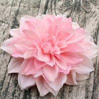 fleurs en tissu fait main en soie achat en gros de-Gros artificiel dahlia fleurs têtes à la main faux tissus de fleurs de soie pour mariage DIY murs de fleurs mariée bouquet décorations de fête à la maison