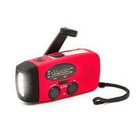 Wholesale FM AM NOAA Weather Radio Hand Crank Self Powered Solar Emergency Radios with LED Flashlight mAh Power Bank Smart Phone Charger