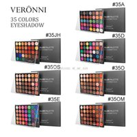 Wholesale sell eye shadow palettes resale online - VERONNI Hot selling Makeup Eyeshadow color Eyeshadow hill Palette Palette Eye Shadow high glossy onion powder DHL Shipping