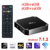 Wholesale ultra hd android tv box resale online - Hot Android box X96 mini S905w GB GB WiFi Lan k ultra smart tv Cutsom Logo television k G wifi Media player