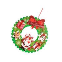 Wholesale ceiling decors resale online - 1 PC Christmas Ornaments Hanging Wreath Xmas Pendant Santa Claus Decorations for Christmas Tree Window Door Wall Ceiling Decor SH190918