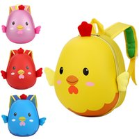 Wholesale cartoon chicken children resale online - 3D Cartoon Chicken Animal School Backpack Fashion Yellow Plush Baby Children Schoolbag Kindergarten Toddler Baby Boys Girls Small Satchel
